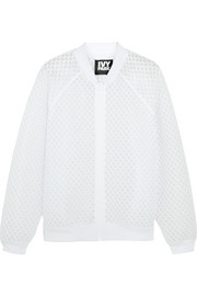 Honeycomb mesh bomber jacket