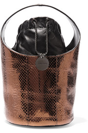 Miranda micro metallic ayers bucket bag