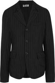 Pinstriped wool-blend jacket