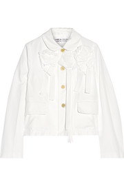 Appliquéd poplin jacket