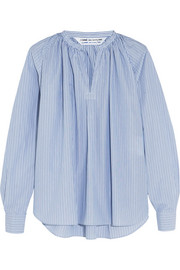 Pinstriped cotton-poplin blouse