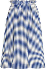 Grace gingham cotton midi skirt