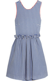 Lola ruffled gingham cotton dress