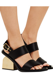 Marni Satin slingback sandals