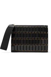 Marni Embellished leather clutch