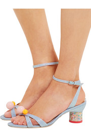 Sophia Webster Loren Dreamy metallic jacquard sandals