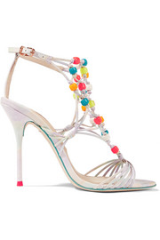 Arielle beaded woven leather sandals