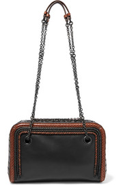 Ayers-trimmed leather shoulder bag