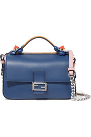 Fendi Double Baguette micro leather shoulder bag