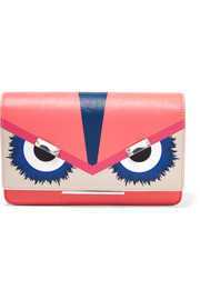 Fendi Tube embellished textured-leather wallet