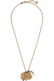 Gold-tone Swarovski crystal necklace