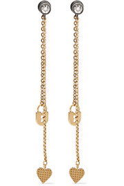 Lanvin Gold-plated Swarovski crystal earrings