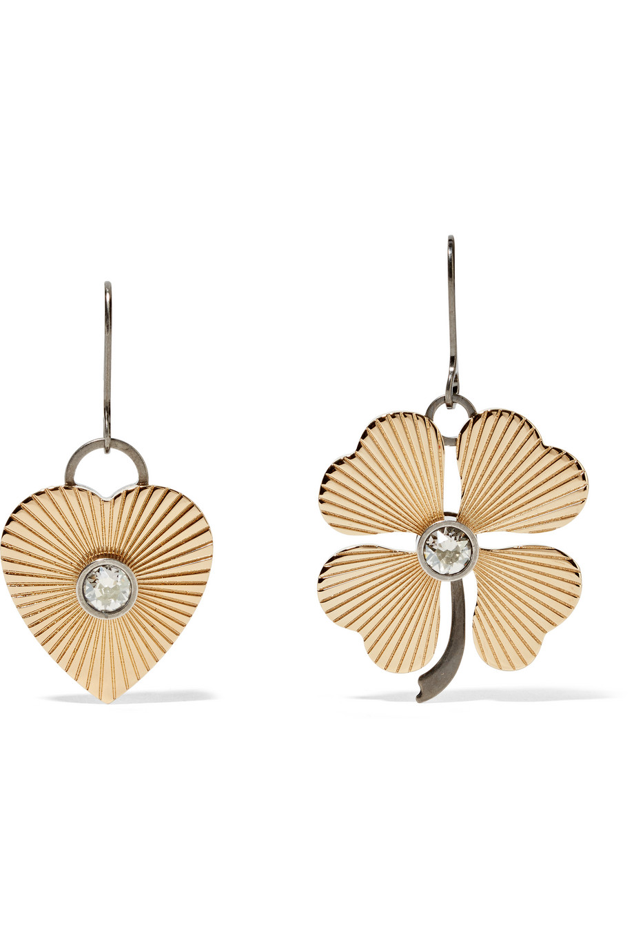 Lanvin Gold-Tone Swarovski Crystal Earrings, Women's