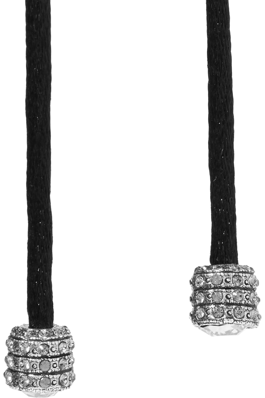 Lanvin Swarovski crystal-embellished silk-satin necklace
