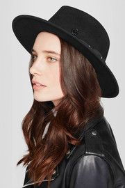 Thadee cotton-trimmed rabbit-felt fedora