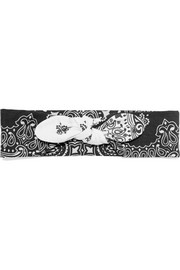Maison Michel Gab printed cotton headband