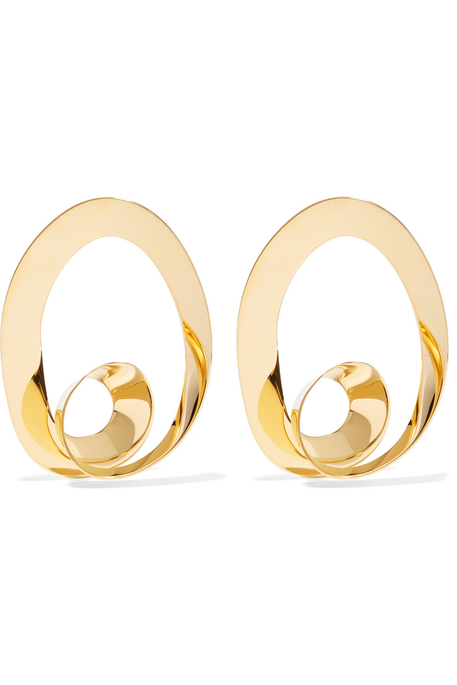 Marni Gold-Plated Hoop Earrings, Women's