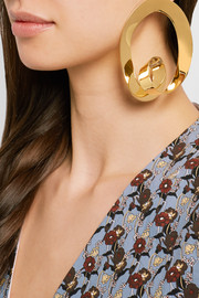 Marni Gold-plated hoop earrings