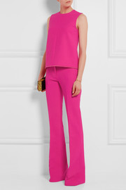 Victoria, Victoria Beckham Frayed stretch wool-blend top
