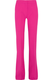 Stretch wool-blend flared pants