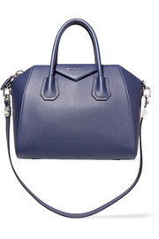 Small Antigona bag in navy textured-leather