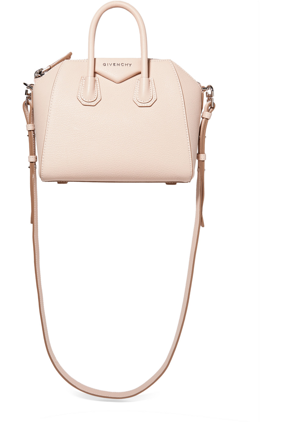Givenchy Mini Antigona Shoulder Bag in Pastel-Pink Leather