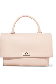 Medium Shark bag in blush textured-leather