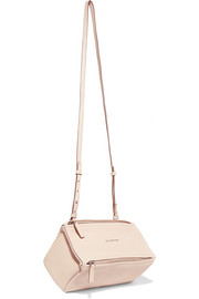 Mini Pandora shoulder bag in blush textured-leather
