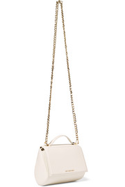 Mini Pandora Box shoulder bag in ivory textured-leather