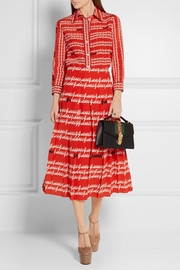 Gucci Pleated printed silk skirt