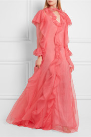 Gucci Ruffled silk-organza gown