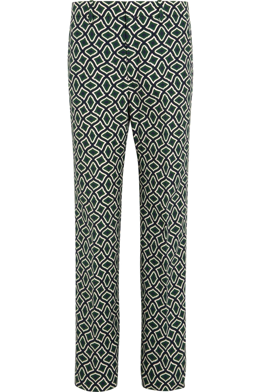 Gucci Bedruckte Hose aus Baumwolle mit geradem Bein