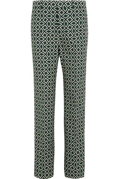 Gucci - Printed Cotton Straight-leg Pants - Emerald