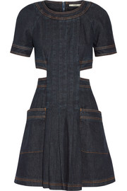 Fendi Cutout stretch-denim mini dress