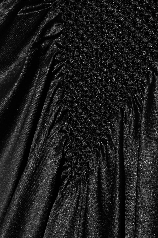Fendi Macramé-trimmed silk-satin top