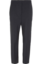 Wool and mohair-blend straight-leg pants