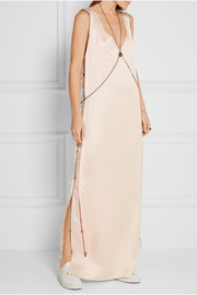 Calvin Klein Collection Gabbay chain-embellished satin-twill gown
