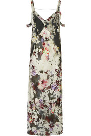 Calvin Klein Collection Floral-print twill gown