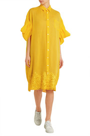 Junya Watanabe Oversized embroidered linen shirt dress