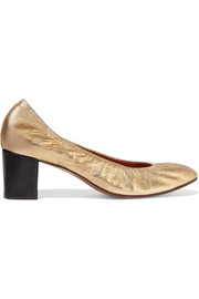 Lanvin Metallic leather pumps