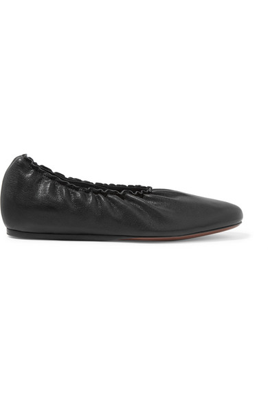Lanvin - Leather Ballet Flats - Black