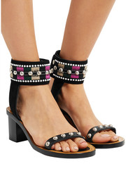 Isabel Marant Joss embroidered leather and suede sandals