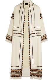 Bering embellished wool coat