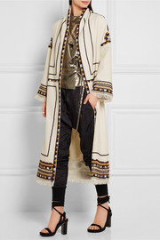 Isabel Marant Bering embellished wool coat