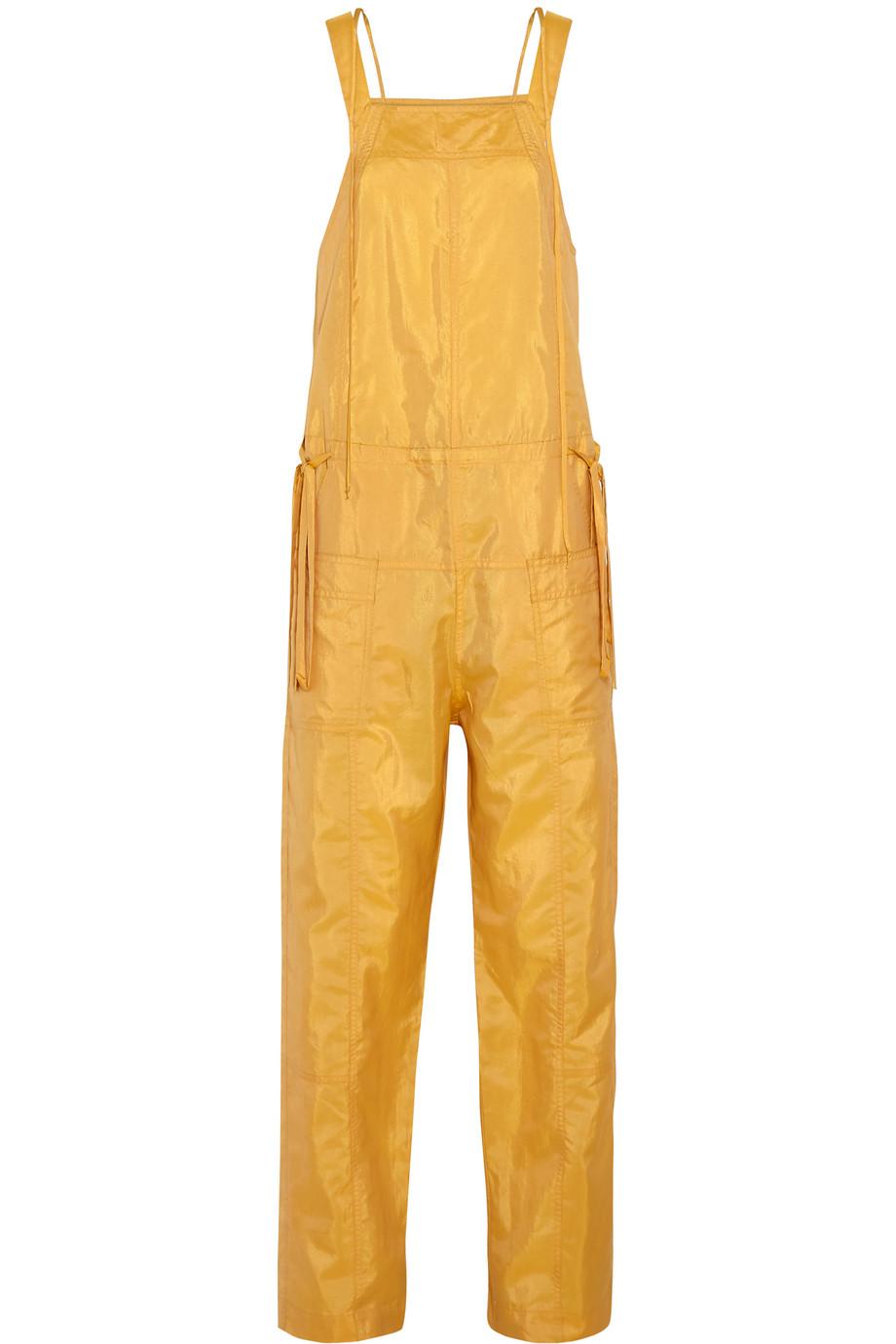Isabel Marant Kyles Taffeta Jumpsuit, Yellow, Women's, Size: 34