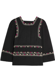 Siloe embroidered cotton top