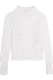 Isabel Marant Zutti open-knit linen-blend sweater