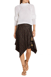 Isabel Marant Treva printed silk-faille wrap skirt