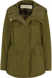 Hooded cotton-blend parka