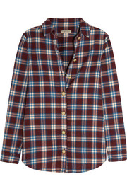 Plaid cotton-flannel shirt